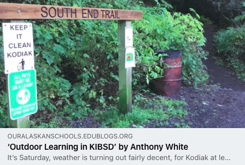 Photo link to an article titled Outdoor Learning by Anthony White